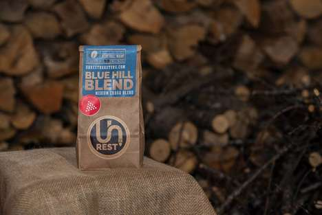 Fungus-Based Coffee Blends - Unrest Roasters' Blue Hill Blend Boast Chaga Mushroom Ingredients