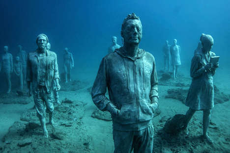 Eerie Underwater Sculptures - The 'Museo Atlantico' Exhibit is Located Beneath the Water's Surface