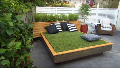 DIY Grass Bed - Jason Hodges Creates the Perfect Summer Backyard Sanctuary