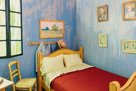 Rentable Artist Abodes - This Airbnb Bedroom is Designed to Look like Van Gogh's Home