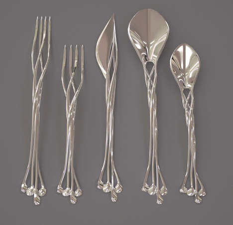 Intricate 3D Printed Flatware - Francis Bitoni Studio Creates a Collection Fit for LOTR's Rivendell