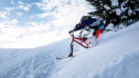 Downhill Wintersport Bikes - The Hillstrike is An Effective Mountain Bike For Winter