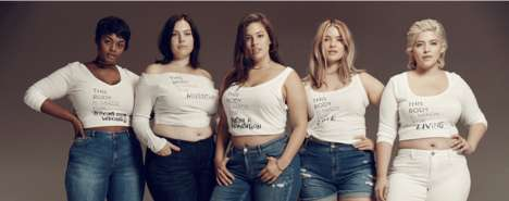 Body Inclusivity Fashion Ads - The Lane Bryant This Body Campaign Focuses on Positive Imagery