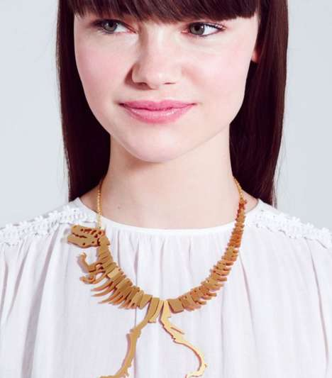 Prim Prehistoric Necklaces - This Tatty Devine Dinosaur Necklace Marries Playful and Chic Elements