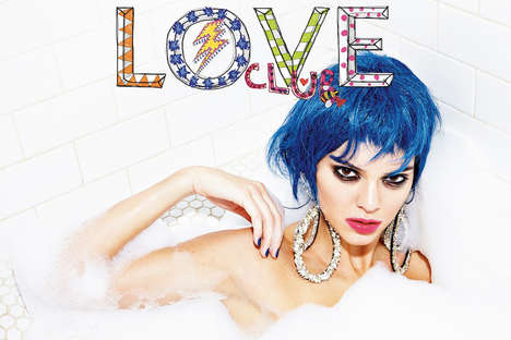 Gaudy Bathtub Editorials - Model Kendall Jenner Rocks an Edgy Aesthetic for LOVE Magazine