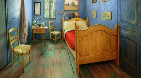 Painting-Replicating Rooms - This Room is a Replica Of the One From Van Gogh's 'Bedroom in Arles'