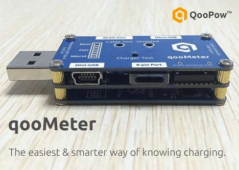 USB-Analyzing Gadgets - The 'qooMeter' USB Charger Tester Relays the Quality of Charing Equipment