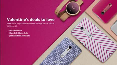 Mobile Valentine's Day Promotions - The Motorola Valentine's Day Promotion Involves Free Accessories