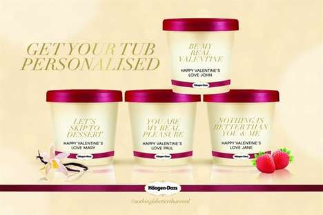 Personalized Valentine's Ice Cream - Tesco Ireland Stores Has Teamed Up with Haagen Dasz