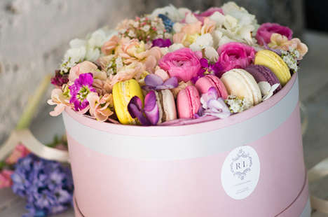 Blooming Macaron Boxes - Flower Gallery RL Offers Opulent Valentine's Day Gift Kits