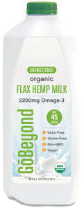 Non-Dairy Milk Blends - GoBeyond Foods' Milk Substitute is Made from Flax, Rice and Hemp
