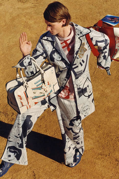 Graphic Comic Strip Apparel - This Loewe Menswear Range Features Illustrated Clothing Staples