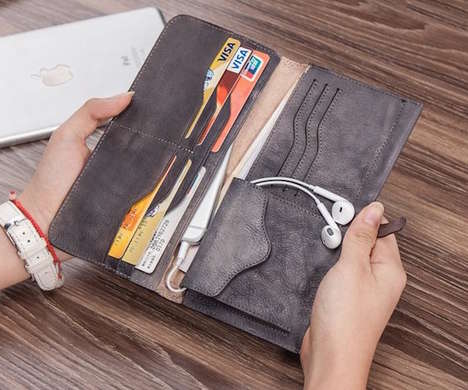 Hybrid Wallet Organizers - The FistCase Leather Clutch Operates as a Wallet and Smartphone Holder