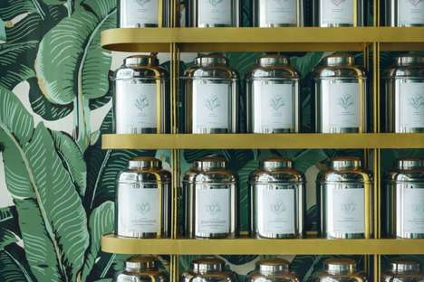Luxe Botanical Tea Rooms - This Warsaw Tea Room Boasts Botanical Wallpaper That Offers Escape