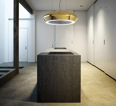 High-Impact Kitchen Ventilators - The Pando Ceramic SkyLoop Kitchen Ventilation System is Minimal