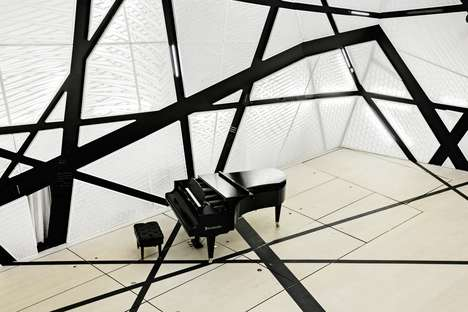 Chaotic Music Studios - Bureau V's 'National Sawdust' Project Boasts Abstract Wall Accents