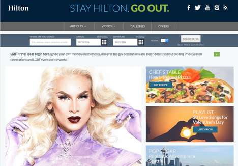 Inclusive Accommodation Services - 'Stay Hilton. Go Out' Helps LGBT Travelers Plan a Vacation