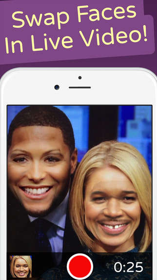 Live Face-Swapping Apps - The 'Face Swap Live' App Helps Users Digitally Trade Faces in Real Time