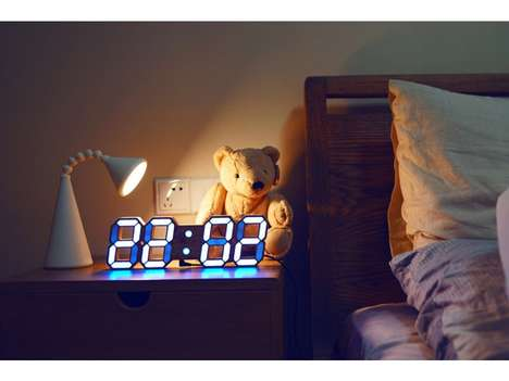 Multi-Colored LED Clocks - The MagicTime Clock Can Be Programmed to Change According to Mood