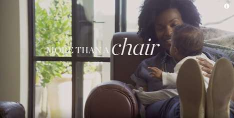 Sentimental Furniture Campaigns - This Pottery Barn Furniture Ad Promotes Quality Family Time