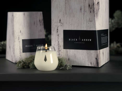 Sophisticated Soy Candle Branding - Black Arrow Candles Boasts an Elegant Packaging Design
