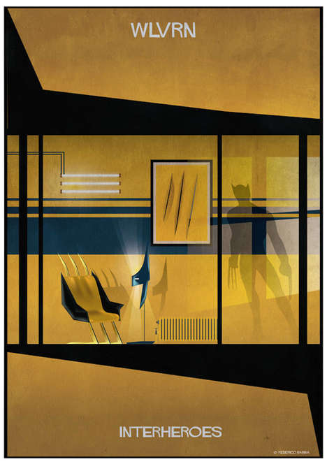 Conceptual Superhero Homes - Federico Babina Illustrates the Homes of Iconic Comic Book Heroes