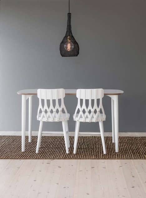 Alphabetic Chair Designs - The Y5 Table Chair Focuses on the Repetition of the Letter 'Y'