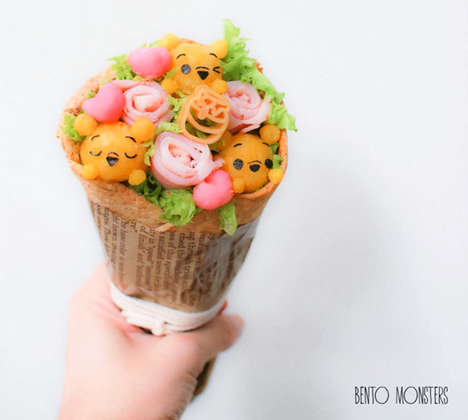 Edible Character Bouquets - This Valentine's Day Arrangement is Made with Food Ingredients