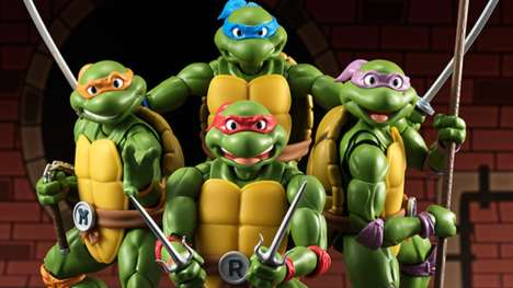 Animated Turtle Action Figures - These Teenage Mutant Ninja Turtle Toys Are Gorgeously Accurate