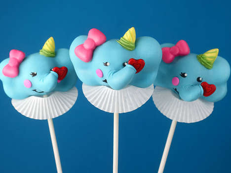 Edible Elephant Pops - These Festive Cake Pops are Shaped Like Whimsical Circus Animals