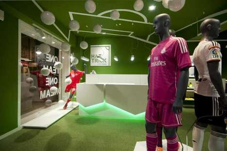 Experiential Football Boutiques - The Hat Trick Store in Alloza Features 100 Suspended Balls