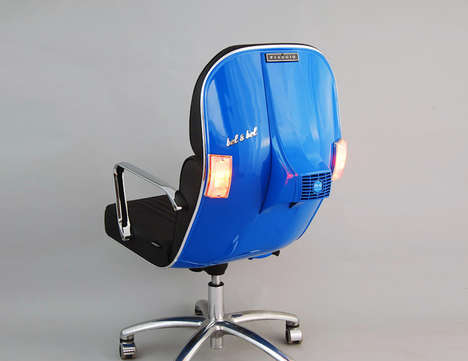 Italian Scooter Seating - The Bel & Bel Vespa BV-12 Custom Chair is Comfortable and Contemporary