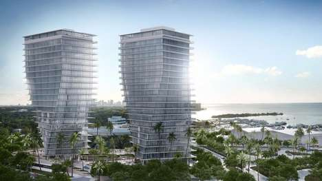 Twisting Residential Towers - The Grove At Grand Bay Residences Feature Top-Notch Luxury Amenities