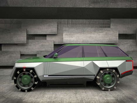Geometric Luxury Car Concepts - The Range Rover Diamond Concept Imagines a Sharply Accented Vehicle