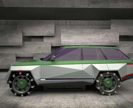 Geometric Luxury Car Concepts