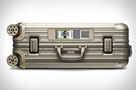 Electronic Suitcase Tags - The Rimowa Bags Offer Digital Luggage Check-In for Added Simplicity