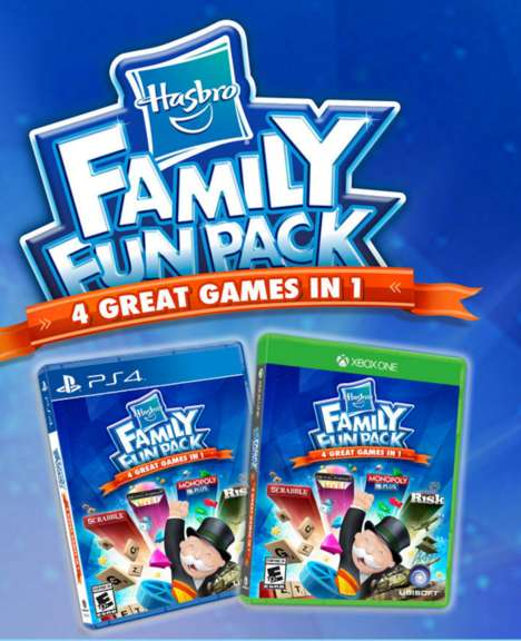 Familial Gaming Packages - The Hasbro Family Fun Pack Includes Classic Board Games