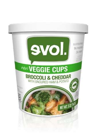 Portable Vegetable Cups - Evol's 'Veggie Cups' Provide Easy-to-Make Helpings of Food