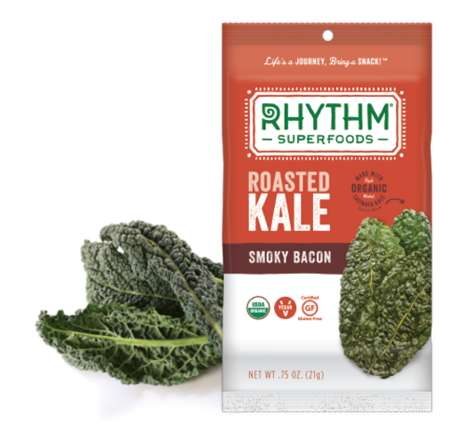 Bacon-Flavored Kale Snacks - This Vegan Rhythm Superfoods Snack Boasts the Taste of Smoky Bacon