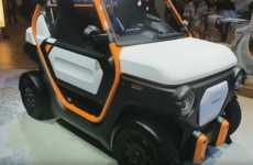 Mobile Battery Cars - The Honda MBEV is a Two-Seater with a Removable Power Pack