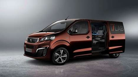 Connected Business Shuttle Concepts - Peugeot's Traveler i-Lab Concept is Full Of High-Tech Features