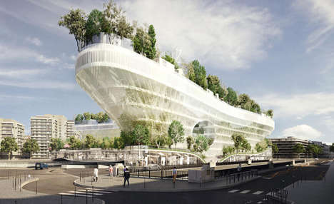 Floating Forest Villages - A Parisian Parking Lot Will Soon be Transformed into Green Homes