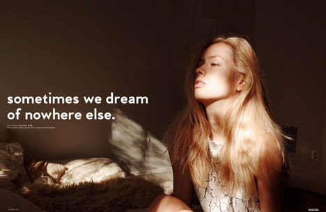 Reclusive Model Photography - 'Sometimes we dream of nowhere else' Promotes Stay-at-Home Style