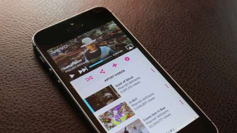 Curated Music Video Apps - The New Vevo App Lets You Enjoy Personalized Content
