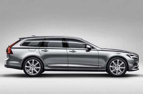 Streamlined Family Vehicles - The 2016 Volvo V90 Wagon Packs Power and Comfort into a Sleek Design