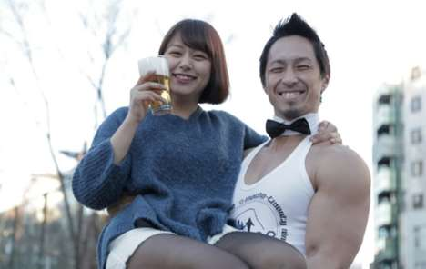 Macho Beer Bars - This Craft Beer Marketing Stunt in Japan Uses Burly Men to Appeal to Women