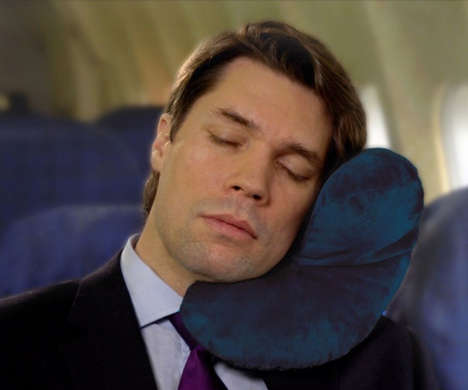 Contoured Comfort Travel Pillows - The 'J-Pillow' Neck Travel Pillow Enables Better Airplane Rest