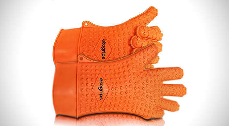 Silicone Grill Gloves - The Ekogrips Max Heat Gloves are Designed for Easy Grilling