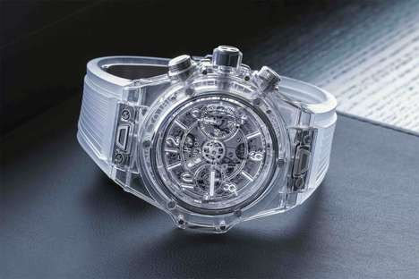 Transparent Mechanical Timepieces - The Hublot Big Bang Unico Sapphire Watch Exposes its Inner Gears