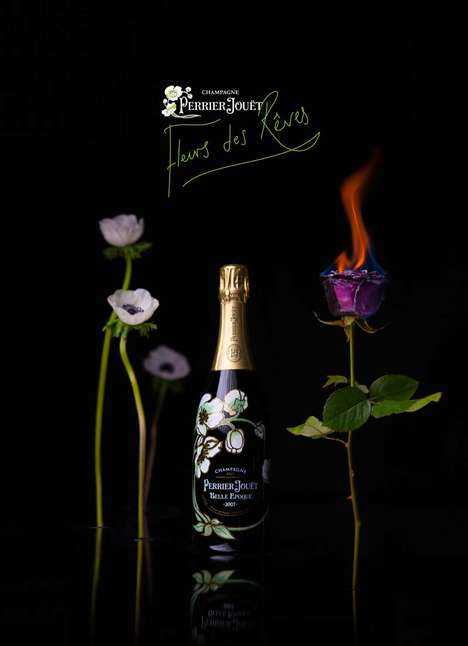 Thermochromatic Flower Shops - Bompas & Parr and Perrier-Jouët Created a Valentine's Day Flower Shop